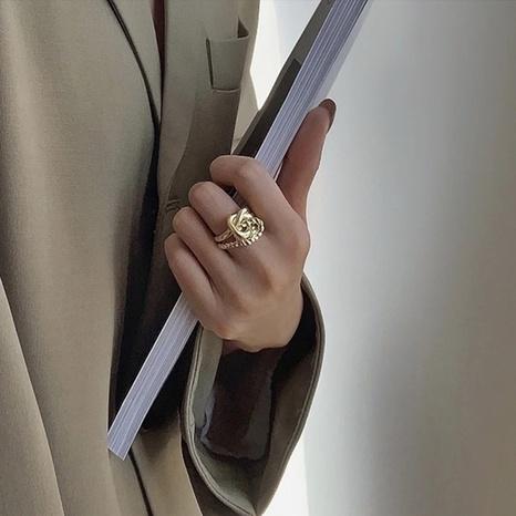 anillo de apertura retro de metal retorcido NHYQ307790's discount tags