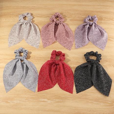 Lazo de pelo de tela de moda coreana Scrunchies de pelo de color puro NHAU307812's discount tags