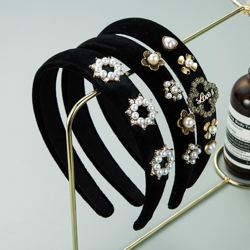 fashion pearl flower headband  NHLN307830