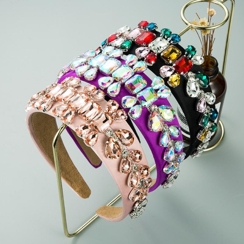 full diamond fabric wide-brimmed headband  NHLN307831
