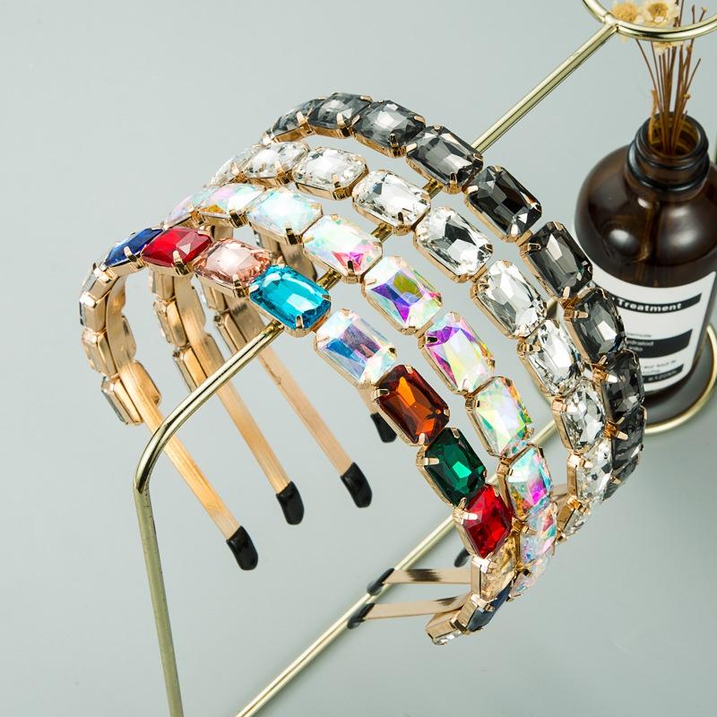 Baroque full rhinestone headband  NHLN307834