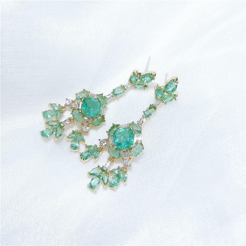 fashion flower opal earrings NHVA307841