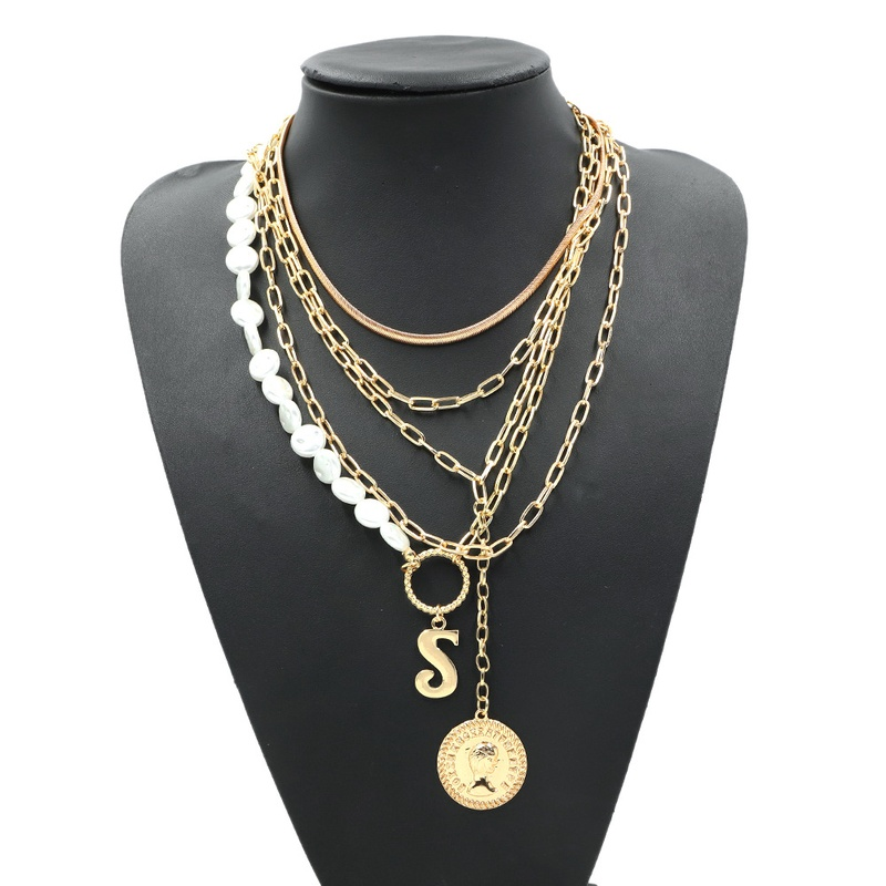 simple exaggerated multi-layer necklace NHJQ307856