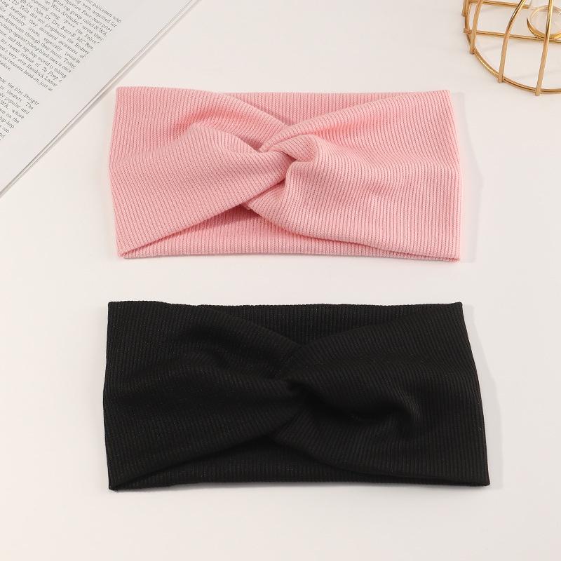 new Korean knitted cross headband  NHNU307871