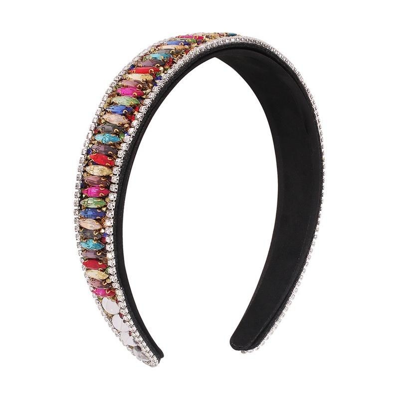 simple retro diamond fashion headband NHMD307873