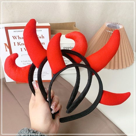 red cute ox horn funny headband  NHOF307877's discount tags