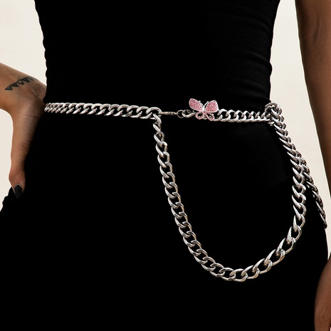 simple single layer butterfly waist chain NHXR307909's discount tags