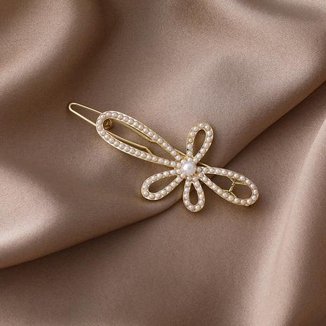 Pince à cheveux fleur perle NHMS307921's discount tags
