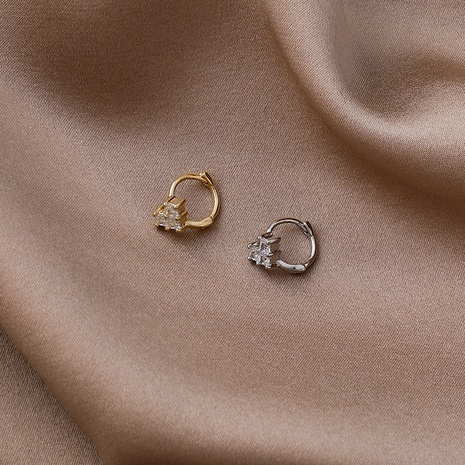 simple zircon love earrings NHMS307924's discount tags