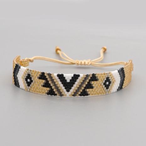 einfache kreative Miyuki Reisperlen handgewebtes geometrisches Armband NHGW307937's discount tags