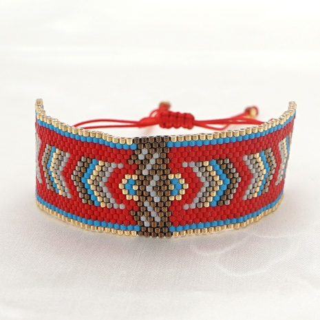 böhmische geometrische Miyuki Reisperlen Armband NHGW307938's discount tags