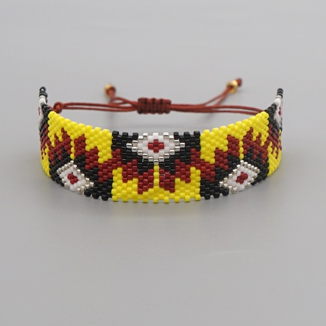 simple hand-woven ethnic Turkish evil eye bracelet NHGW307942's discount tags
