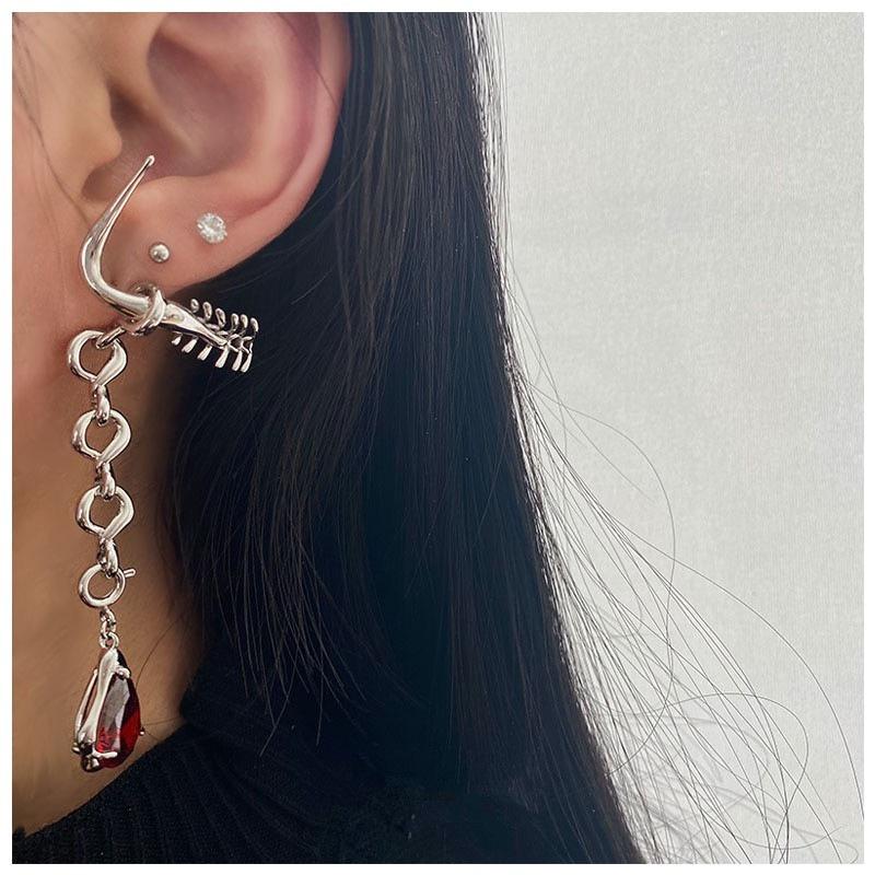 fashion new cone gemstone splicing earrings NHYQ307949