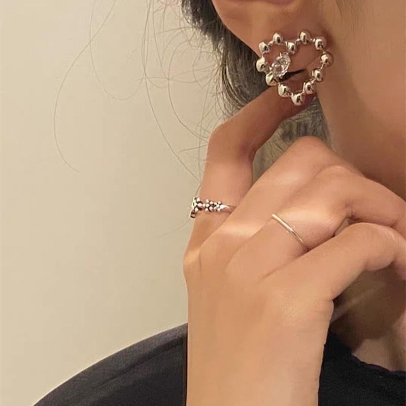 Korean simple love earrings NHYQ307950