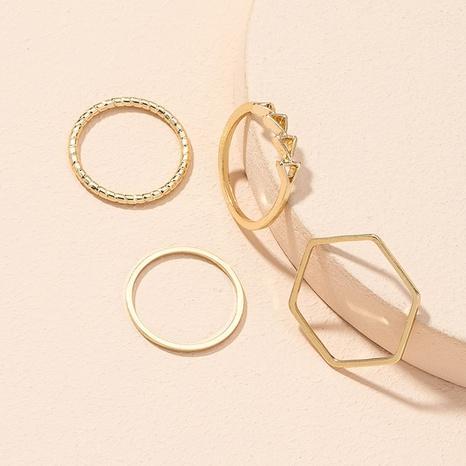 new simple geometric rings set  NHAI307966's discount tags