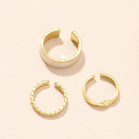 fashion opening adjustable rings three-piece set NHAI307968's discount tags