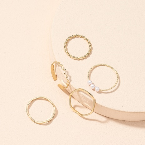 new simple fashionable opening rings set NHAI307967's discount tags