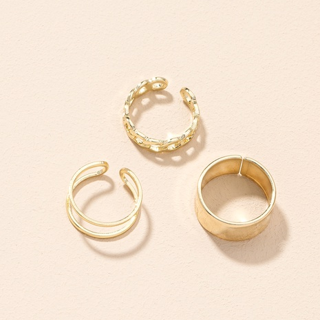 new simple fashionable opening rings set NHAI307972's discount tags