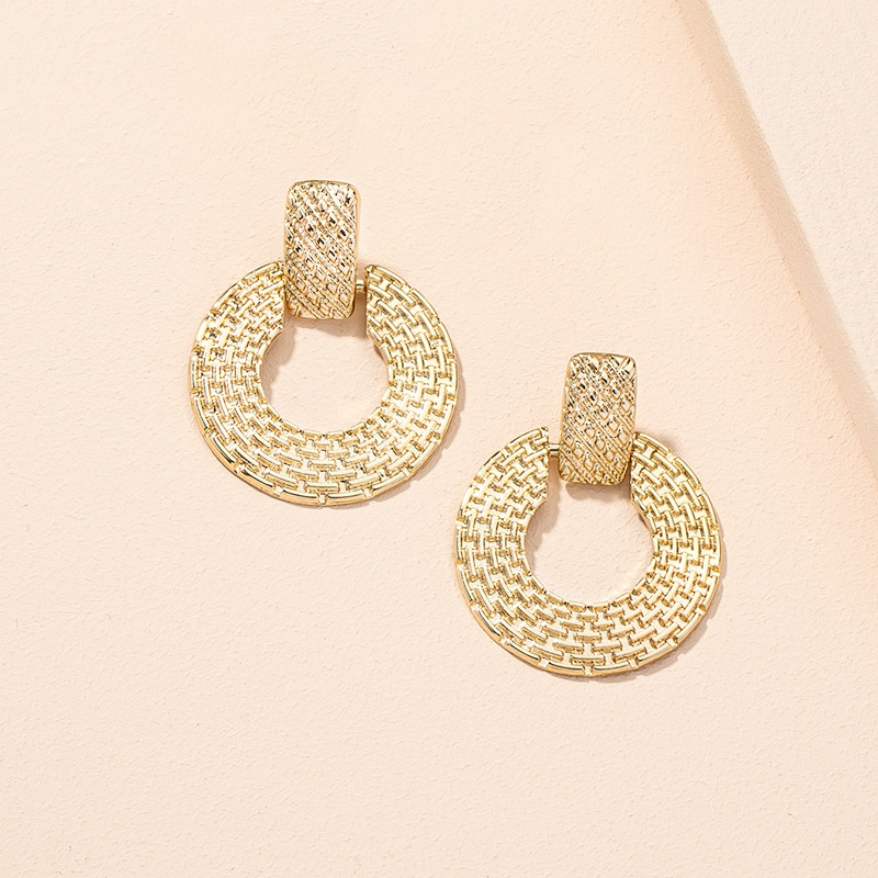 new simple retro ethnic style geometric circle earrings  NHAI307976
