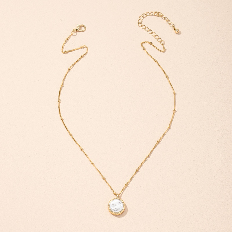 Korea simple baroque pearl pendant necklace NHAI307993