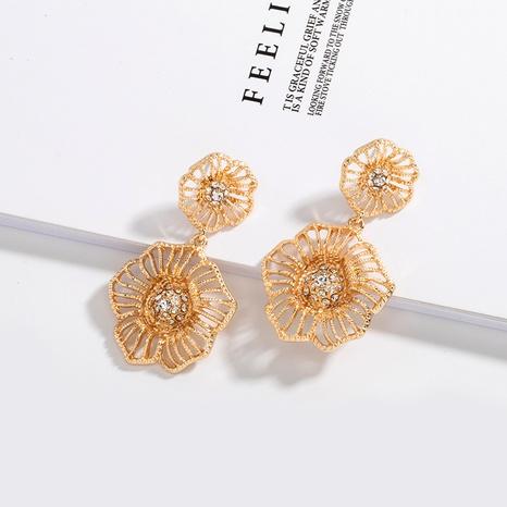 Korea neue Mode Metall Blumenohrringe NHAI307996's discount tags