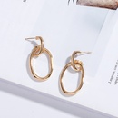 geometric metal circle earrings NHAI308006
