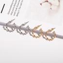 metal round twisted earrings NHAI308007