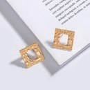Korean Star Geometric Square Earrings NHAI308026