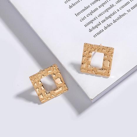 Korean Star Geometric Square Earrings NHAI308026's discount tags