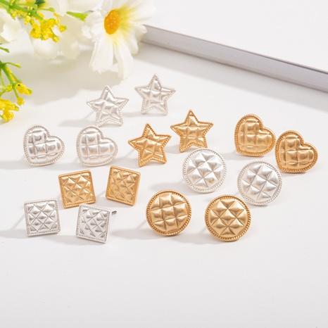 simple korean geometric earrings  NHAI308032's discount tags