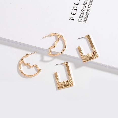new wave irregular geometric earrings  NHAI308036's discount tags