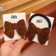 NHCQ1403671-3Coffee-color-bow-hair-rope
