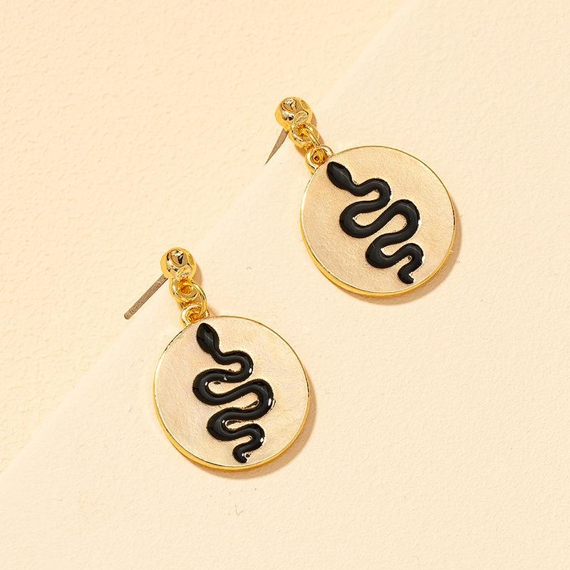 fashion small snake tag earrings NHGU308059