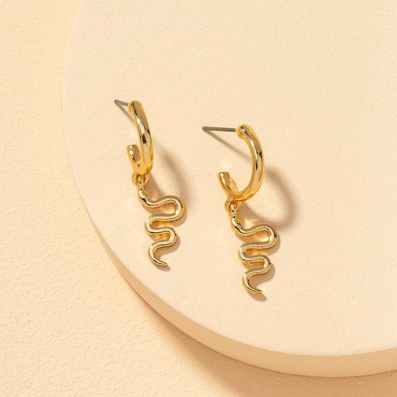 fashion alloy snake earrings  NHGU308062