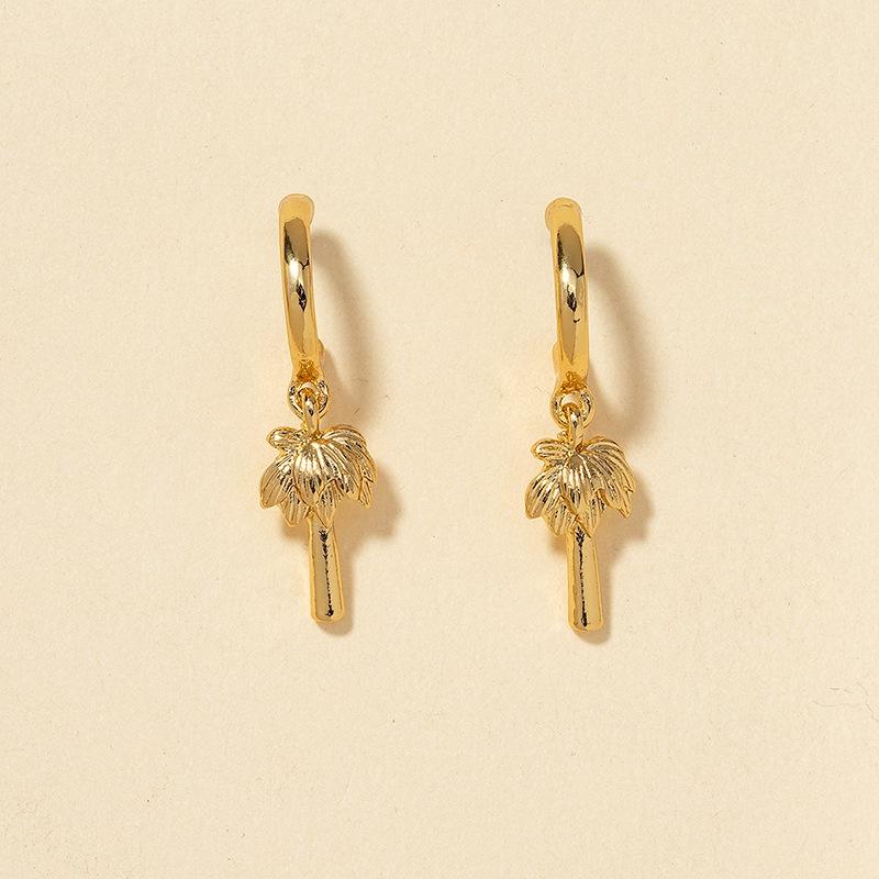 fashion coconut tree earrings  NHGU308063