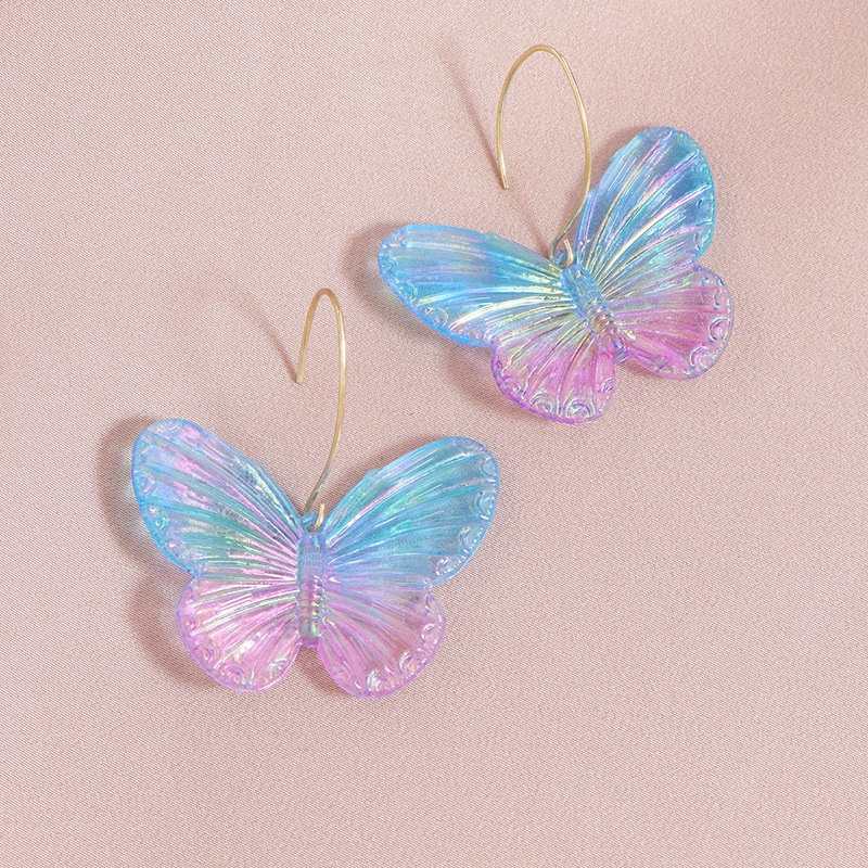 fashion colorful acrylic butterfly earrings  NHGU308075