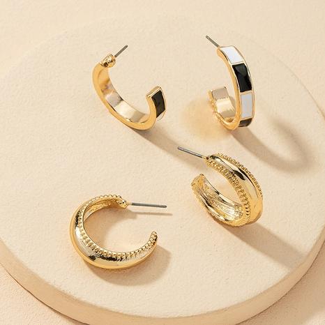 Großhandel Mode C-förmige Ohrringe 2 Paar Set NHGU308081's discount tags