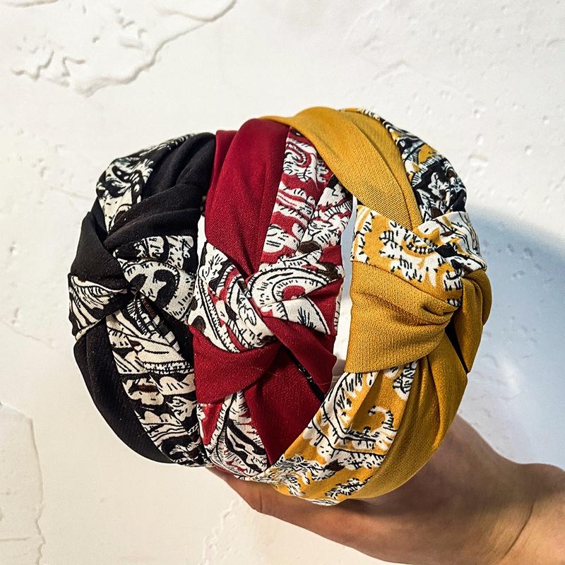 retro stitching abstract pattern headband  NHCL308098