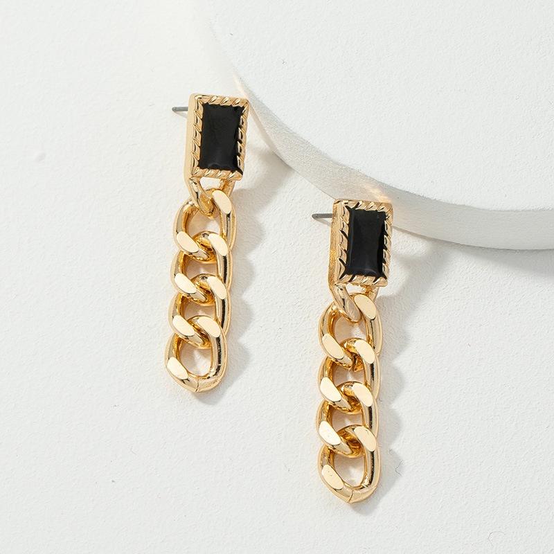 new chain long simple earrings NHQJ308137
