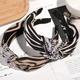 stripes fashion rhinestone headband NHAQ308145