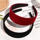 Velvet retro wide headband NHAQ308148