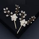 creative flower pearl hairpin NHHS308179