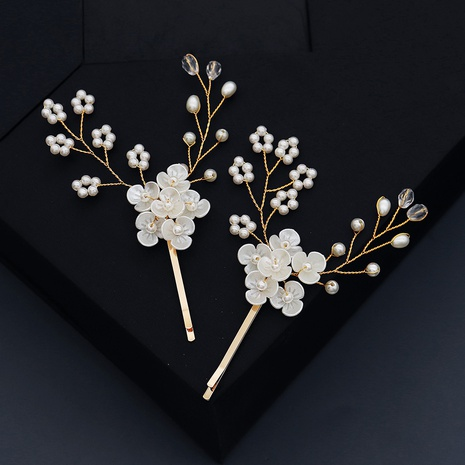 creative flower pearl hairpin NHHS308179's discount tags