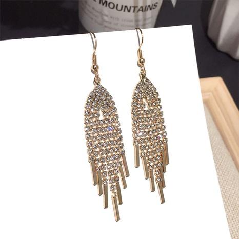 new fashion zircon tassel earrings NHFT308231's discount tags