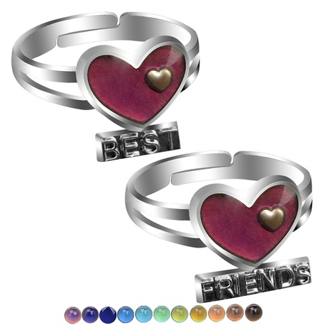 heart-shaped best frends temperature-sensing color change opening ring NHBI308238's discount tags