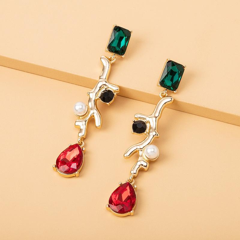 fashion crystal pearl earrings  NHAI308252