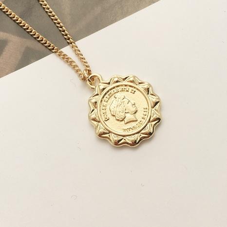 Korea fashion retro gold coin necklace  NHAI308264's discount tags