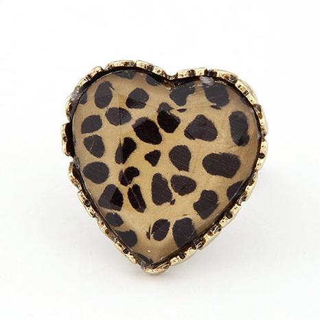 Offener Ring des Retro-Leopardenpfirsichherzens der koreanischen Mode NHSC308274's discount tags