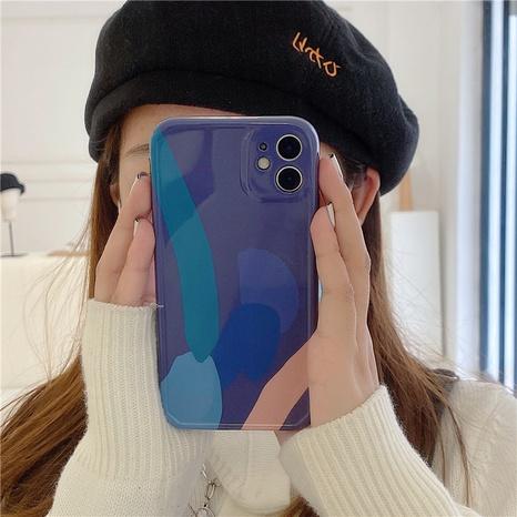 étui de téléphone portable Apple géométrique bleu brume pour iPhone8 Soft Cover SE2 NHFI308351's discount tags