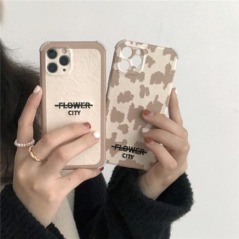 Coque de téléphone portable à imprimé léopard avec lettres de broderie simples pour iPhone8plus XR NHFI308355's discount tags